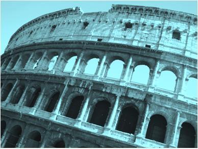Roman Colosseum Outside View