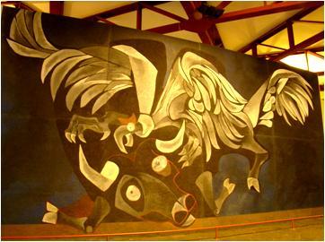 Condor and Bull Mural Guayasamin