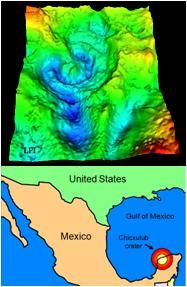 Chicxulub crater image Evolution Literacy