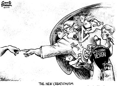 New Creationism Intelligent Design cartoon evolution literacy