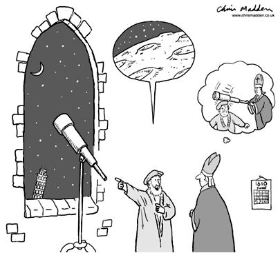 Galileo Explains Astronomy to Pope Evolution Literacy