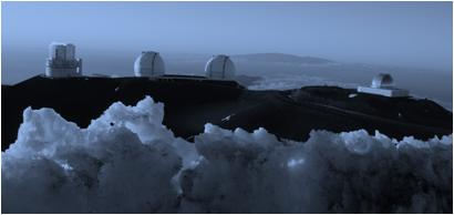 Telescopes Mauna Kea Hawaii Photo G Paz-y-Mino-C Evolution Literacy 2012