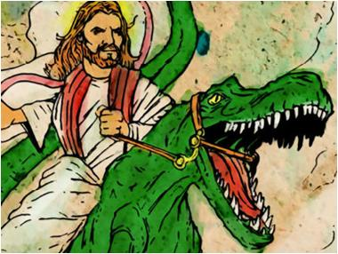 Riding Dinosaurs in Eden