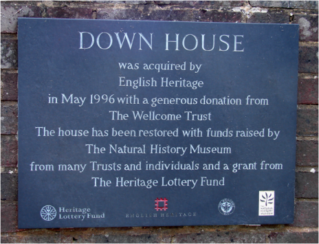 Down House Plaque