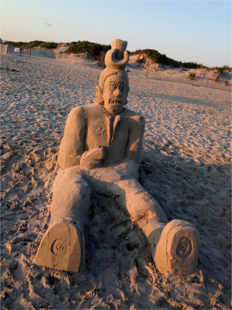 A Sand Sculpture Sachuest - Photo G-Paz-y-Mino-C 2015
