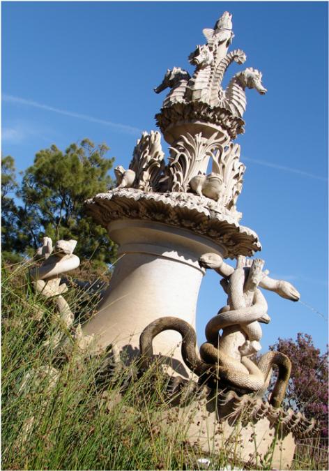 Animal Fountain Jardim Botanico da Ajuda Lisbon