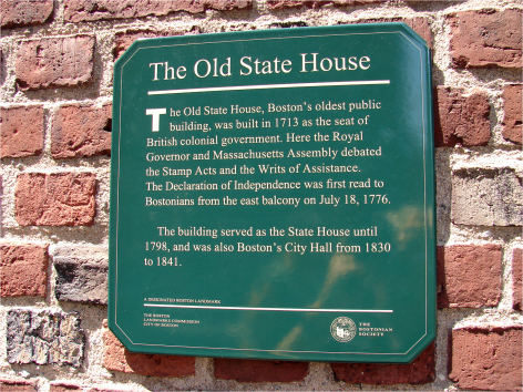 B Old State House Plaque Boston - Photo G-Paz-y-Mino-C 2010