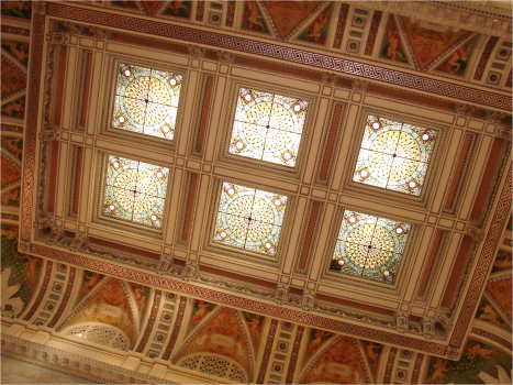 C Ceiling inside Library of Congress Washington - Photo G-Paz-y-Mino-C 2010