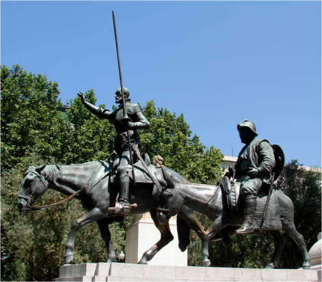 Don Quijote and Sancho Madrid 2010