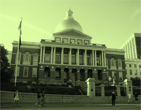 Front of the New State House Boston - Photo G-Paz-y-Mino-C 2010