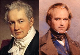 Humboldt and Darwin when young