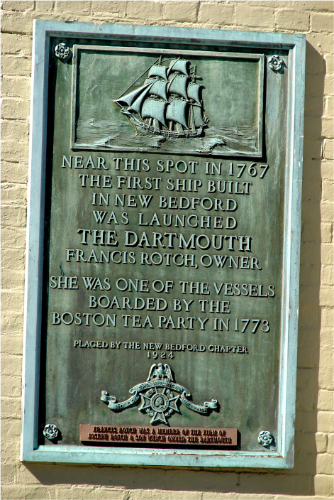 Plaque First Ship New Bedford 2010