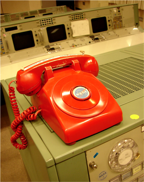 Red Phone NASA Apollo Mission Control Center - Photo G Paz-y-Mino-C 2011