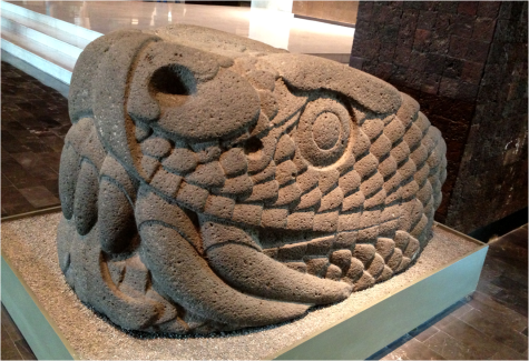 Snake at Museum of Anthropology Mexico - G-Paz-y-Mino-C 2015