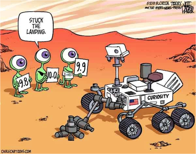 Stuck The Landing cartoon Mars Curiosity Rover
