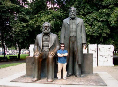 With Marx and Engels Berlin 2011