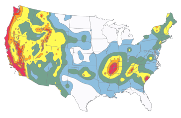 Seismic Map of the US - USGS