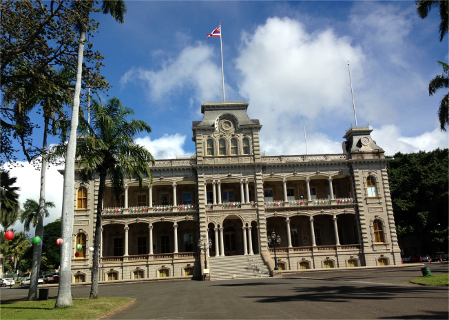 Iolani Palace Honolulu Hawaii - Photo G-Paz-y-Mino-C 2016