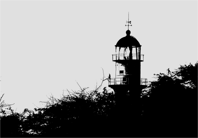 Sunset Light House B&W Honolulu - Photo G-Paz-y-Mino-C 2016
