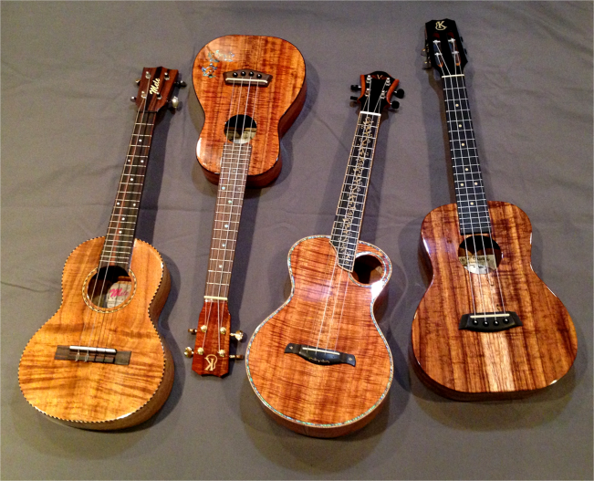 Ukuleles four Hawaii - Photo G-Paz-y-Mino-C 2016