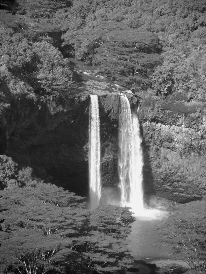 Twin Cascades Wailua Falls Kauai Photo G-Paz-y-Mino-C 2014