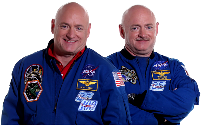 NASA astronauts Scott Kelly and Mark Kelly Photo Tony Cenicola
