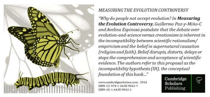 Promotion Measuring the Evolution Controversy Paz-y-Mino-C & Espinosa 2016