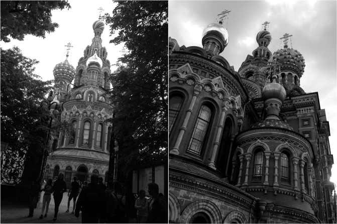 B&W Church on The Spilled Blood St Petersburg - Photo G-Paz-y-Mino-C 2016