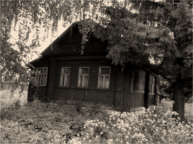 B&W House in Suzdal Russia - Photo G-Paz-y-Mino-C 2016