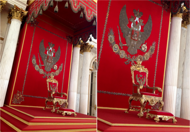 The Royal Throne Hermitage Museum St Petersburg - Photo G-Paz-y-Mino-C 2016