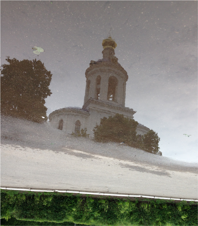 Water reflection Convent Bogolyubovo Vladimir region Russia - Photo G-Paz-y-Mino-C 2016