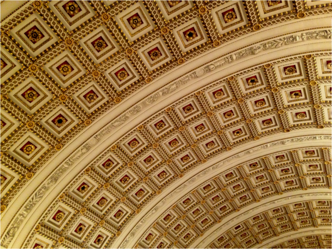 Ceiling Library of Congress Washington DC - Photo G-Paz-y-Mino-C 2016