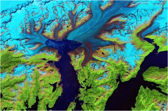 Columbia Glacier Landsat Satellite NASA 2014
