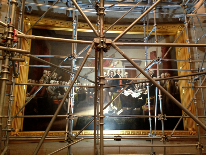 Constantino Brumidi painting US Capitol - Photo G-Paz-y-Mino-C 2016