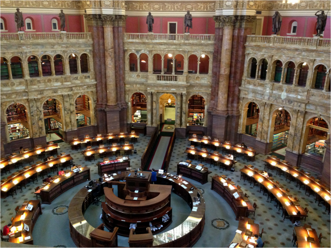 Main Reading Room Library of Congress Washington DC - Photo G-Paz-y-Mino-C 2016
